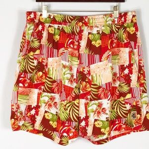 Tommy Bahama Tropical Print Swim Trunk Large